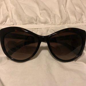 Tory Burch cat eye sunglasses - tortoise/silver
